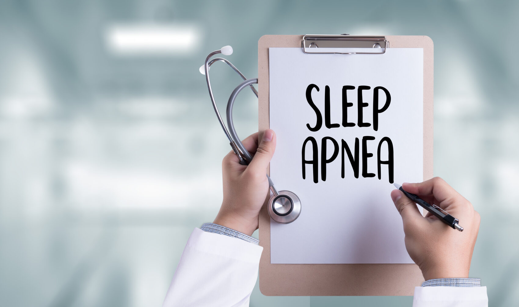 sleep apnea on clipboard